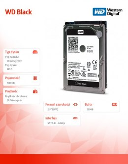 Black 500GB 2,5'' 32MB SATAIII/7200rpm