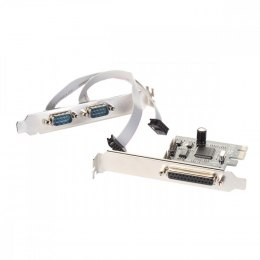 PCI-Express Card 2x Serial RS232 + 1x Parallel