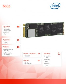Dysk SSD 660p Series 512GB M.2 PCle 3D2 QLC