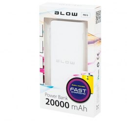 Power Bank PB15 20000mAh 2xUSB BIAŁY
