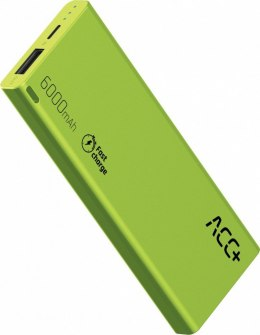 Power Bank ACC+ THIN 6000 mAh zielony