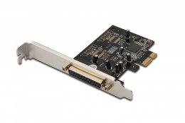 Karta rozszerzeń/Kontroler LPT PCI Express, 1xDB25, Low Profile, Chipset: MCS9901